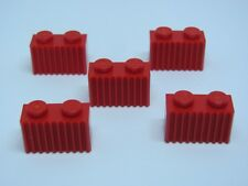 LEGO 2877 @@ Brick Modified Grille 1 x 2 Red x5 - 4502 4551 4565 6212 7597 10027