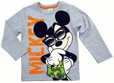 NEU Disney Mickey Mouse Langarmshirt Longsleeve Shirt orange 98 104 116 128