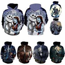 The Nightmare Before Christmas Sally Jack Skellington Hoodie Sweatshirt Cosplay!