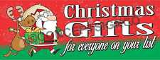 3'x8' CHRISTMAS GIFTS FOR EVERYONE ON YOUR LIST BANNER Signs LARGE Holiday Santa