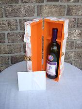 Love Letter Ceremony Wine Box, Wedding Wine Box. ORANGE crackle paint.