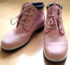 Timberland Boots 6 Inch Premium Waterproof Leather Ladies Pink Size 9W UK 7 EU40