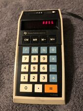 Vintage Texas Instruments Calculator TI-2550 Red LED Display Tested Works 1972