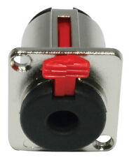 "Klinkeneinbaubuchse - 3pol - D-Form  Locking 1/4"" phone jack 6,3mm Klinkebuchse"