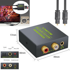 Optical Coaxial Toslink Digital to Analog Audio Converter 3.5MM RCA L/R AUX AUS