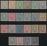 Portugal - 1895 - Scott # 110 thru 131 - Complete Set!! - MH & MLH      $585