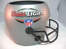 "Coors Light NFL Beer Bucket Helmet Football Tailgating Silver 8.25"" tall Plastic"