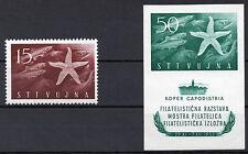 TRIEST-ZONE B STT VUJNA 29. Nov. 1952  Mi.Nr. 83 und 84 BLOCK 2 Postfrisch RAR