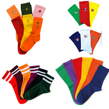 6 Pairs Colourful patterned ladies socks cute cat socks size 4-7 stripe college