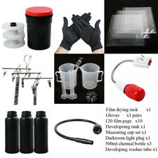 120 Darkroom Film Developing Equipment Kit Storage Light Washer Negative Process