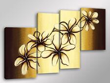 Quadro Moderno 4 pz. CANDID FLOWERS cm 140x95 arredamento fiori stampa su tela