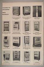 Cigarette Vending Machine MAGAZINE ARTICLE - 1962 models