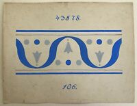 Jugendstil Entwurf Skizze Studie 106 Art-Nouveau Fliesen Bordüre? Dekoration