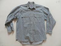 Levi's ® Jeans Hemd Jeanshemd Gr. M, wie NEU ! gestreift, robuster Denim, RAR !