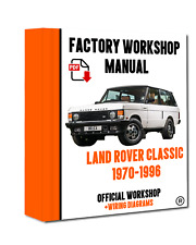 >> OFFICIAL WORKSHOP Manual Repair Land Rover Classic 1970 - 1996