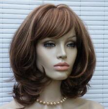 Perücken & Haarteile Glatte Perücke Mit Pony Mittel-lang Stufen-schnitt Wellen Natürlich Aussieht Wig 100% Garantie