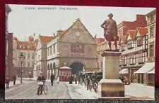 Vintage Town Street Scene Postcard - Shrewsbury Shropshire