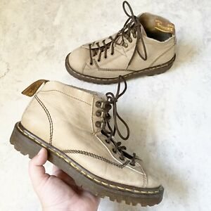 Dr. Martens Women's Boots 8 Ankle Lace Up Vintage Taupe Tan Brown 8088 England