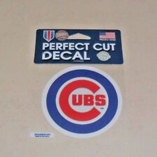 CHICAGO CUBS 4 X 4 DIE-CUT DECAL OFFICIALLY LICENSED PRODUCT