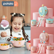 5 tlg Kinder Geschirr Set Kindergeschirrset Besteck Isolierschale aus Edelstahl