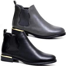Ladies Womens Ankle Block Heels Riding Smart Formal Biker Chelsea Boots Shoes