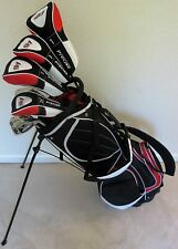 NEW Mens Complete RH Golf Club Set Driver Wood Hybrid Irons Putter & Stand Bag
