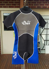 Short Wetsuit Spring Suit for Men, 2mm Back Zip, S015 Size Small, Blue/Black