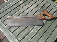 Vintage Small steel back tenon saw. Woodworking, Carpentry Tool
