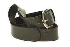 G350 Gürtel 85 cm dickes Leder grau dunkelgrau Jeansgürtel Hosengürtel Vintage