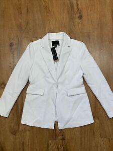 $199 BANANA REPUBLIC Womens Size 2P Ivory Single Button Blazer Jacket