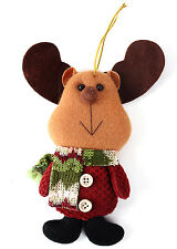 Lovely Reindeer Christmas Doll Decoration Xmas Tree OrnamentHanging Decor CA