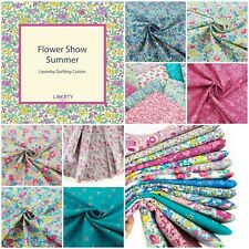 Liberty Flower Show Summer Collection Pink Floral 100% Cotton Patchwork Fabric