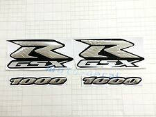 Raised 3D Chrome Suzuki GSXR GSXR1000 Emblem Silver Decal Streak Sticker Bling