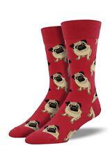 Socksmith Mens Man Gent Boys Pug Pugs Red Dog Novelty Socks Gift New LilyRosa