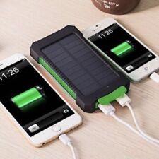 Solar Powerbank 30000mAh Zusatzbatterie Handy Externer Akku Ladegerät 2 USB