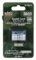 KATO N gauge sound card ACS-64 electric locomotive 22-203-3 model railroad supp