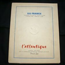 """CGT FRENCH LINE SS """"FRANCE"""" 4 Maiden Voyage Booklets"""