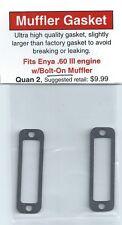 Enya .60 III, .60-3 w/Bolt-On Muffler Exhaust/Muffler Gasket 2 Pack NIP