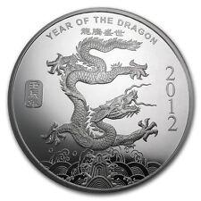 1 oz 999 Silber Ag Silver Lunar Jahr des Drachen Dragon 2012 SELTEN NEU !!!