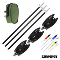 Bank Stick black + elektronische Bissanzeiger + Hanger Rod Pod SET Rutenhalter