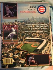 Chicago Cubs Official 1986 Yearbook Harry Caray