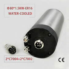 15kw Er16 Water Cooled Spindle Motor For Cnc Router Engraving 220v 4 Bearings