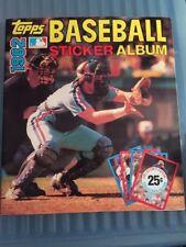 1982 TOPPS BASEBALL STICKER ALBUM Book Gary Carter Near Complete w Stickers Yaz