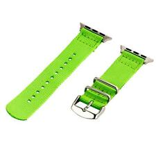 Neon Green - 2 Piece Classic SS Nylon Watch Band for 38mm Apple Watch