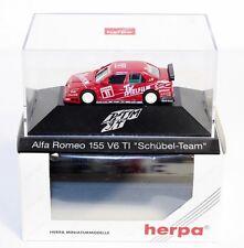"Herpa 036108, Alfa Romeo 155 V6 TI "" Schübel Team"",1:87, im Okt.     #ab1516"