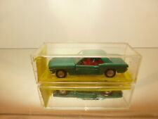 SABRA FORD MUSTANG - GREEN 1:43 - VERY GOOD CONDITION IN PLASTIC GARAGE