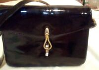 Lederer de Paris  Shoulder Bag Purse Black patent.vintage