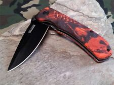 Couteau Tac Force Linerlock A/O Red Camo Lame Acier 440 Manche FRN TF764RC