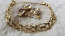 Gold Plated Flowers/Plants Bracelet Vintage Costume Jewellery