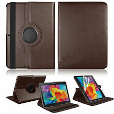 For Samsung Galaxy Tab 4 10.1 Tablet SM-T530NU Leather Rotating Case Cover Y5RG